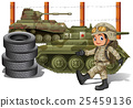 Soldier and military tanks 25459136