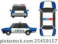 Police car in three different angles 25459157