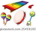 Sticker set of musical instrument 25459193