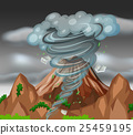 Tornado over the mountains 25459195