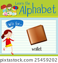 Flashcard letter W is for wallet 25459202