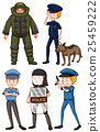 Policeman in different uniforms 25459222