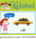 Flashcard letter C is for cab 25459286