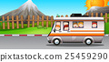 Children riding on camper van 25459290