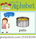 Flashcard letter P is for pasta 25459294