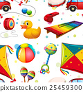 Seamless design with many toys 25459300
