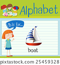 Flashcard letter B is for boat 25459328