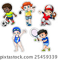 Sticker set of children playing sports 25459339