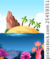 Nature scene with island on the ocean 25459351