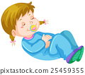 Girl toddler having nap 25459355
