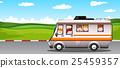 Children riding on camper van 25459357