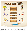 Matching game with sport and people 25459445