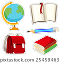 Sticker set with different stationaries 25459463