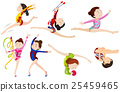 Different types of gymnastics 25459465