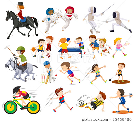People doing different kinds of sports 25459480