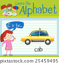 Flashcard letter C is for cab 25459495