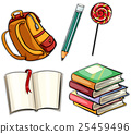 Sticker set with education objects 25459496