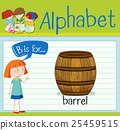 Flashcard letter B is for barrel 25459515