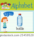 Flashcard letter B is for bottle 25459520