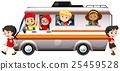 Children riding on camper van 25459528