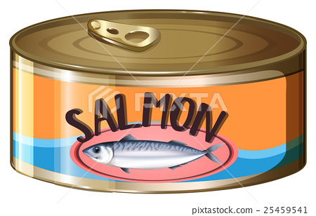 Salmon in aluminum can 25459541