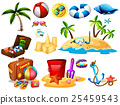 Summer set with toys and island 25459543
