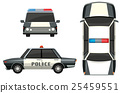 Police car from different views 25459551