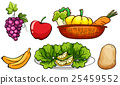 Set of vegetables and fruits 25459552