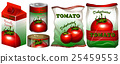 Tomato in different packaging 25459553