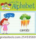 Flashcard letter C is for carrots 25459569