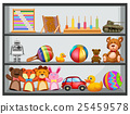 toys shelf vector 25459578