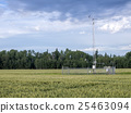 Weather station in a wheat field 25463094