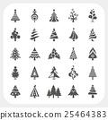tree, christmas, icon 25464383