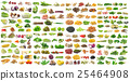 set of vegetable grains and herbs on white 25464908