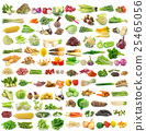 set of vegetable on white background 25465056