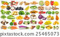 set of fruit and vegetable on white background 25465073