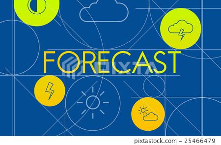 Forecast Season Temperature Cloud Graphic Concept 25466479