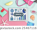 Online Shopping Shipping Internet Commerce Concept 25467116
