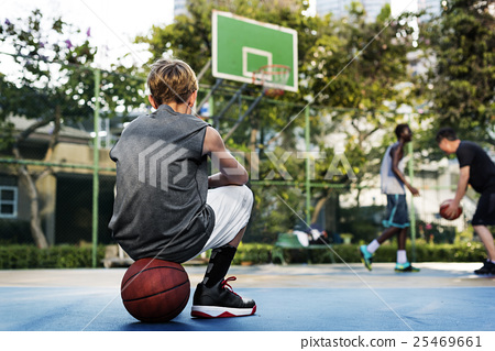 Basketball Sport Skill Court Coach Exercise Young Concept 25469661