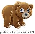 Cartoon Grizzly Bear Animal Character 25472178