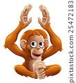 Cartoon OrangUtan Animal Character 25472183