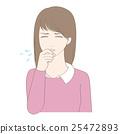 여성, 바이러스, 고열 25472893