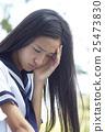 少女 頭痛 頭疼 25473830