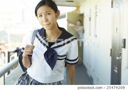 少女 學生 學校通勤 25474209