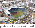 Aerial view of Hanshin Koshien stadium 25475548