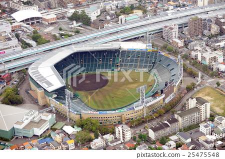 阪神甲子园体育场鸟瞰图 25475548