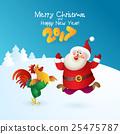 2017, rooster, santa 25475787