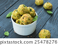 Vegetable balls with zucchini and Parmesan cheese 25478276