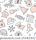 Christmas icon set seamless pattern 25482932