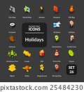 Color icons set in flat isometric illustration 25484230